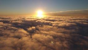 Sun che si sbiadisce sotto le nuvole Fotografia Stock Libera da Diritti