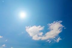 The Sun & chmury Zdjęcia Stock