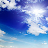 Sun in cielo Fotografia Stock