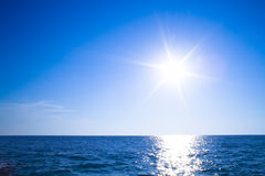 Sun, cielo ed oceano Immagine Stock Libera da Diritti