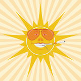 Sun and cigarette Royalty Free Stock Photography