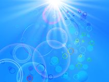 Sun with circles Stock Photography