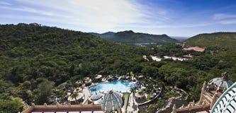 Sun City, palais perdu - panoramique Images libres de droits