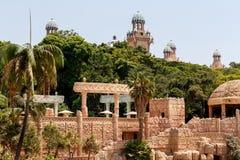 Sun City slotten av den borttappade staden, Sydafrika Royaltyfri Bild