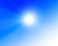 Sun in clear blue sky Stock Photos