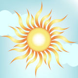 Sun on clear sky Royalty Free Stock Photo