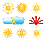 Sun clip-art royalty free stock images