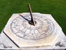 Sun Clock. Ancient Traditional Sun Clock To Show The Time Stock Photo