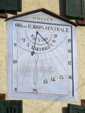 Sun clock. An ancient sun clock on a building Royalty Free Stock Photography