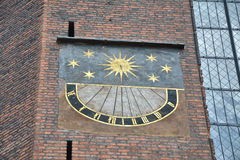 Sun clock in Gdansk Stock Images