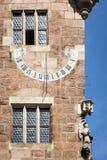 Sun clock Nuremberg Bavaria Germany Stock Image