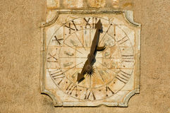 Sun clock at Roussillon Stock Photo