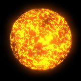 Sun close-up. Lava Royalty Free Stock Photos