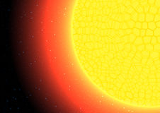 The sun close up vector illustration Royalty Free Stock Photo