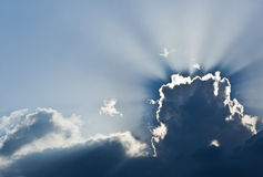 The sun is closed by clouds Royalty Free Stock Photos