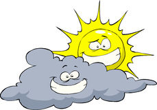 Sun and cloud Stock Images
