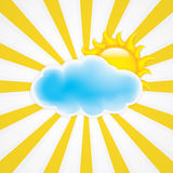 Sun with cloud Stock Photos