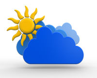 Sun with cloud Royalty Free Stock Images