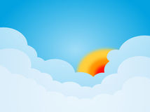 Sun and cloud Royalty Free Stock Images