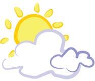 Sun for cloud Royalty Free Stock Photos