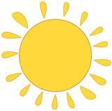 Sun with cloud Royalty Free Stock Photography