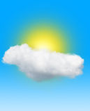 Sun in the cloud Stock Images