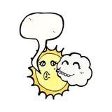 sun and cloud cartoon Stock Images