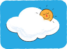 Sun and Cloud Children's Illustration Royalty Free Stock Images