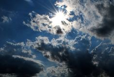 Sun and cloud Stock Image