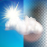 Sun with cloud floats in the sky. EPS 10 Stock Photography