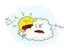 Sun and Cloud Stock Photos