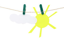 Sun and cloud. Royalty Free Stock Photo