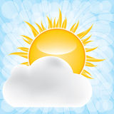 Sun with cloud Royalty Free Stock Image