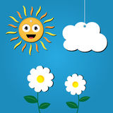 Sun and cloud illustration. Stock Photography