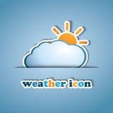 Sun and Cloud - label design Stock Photo