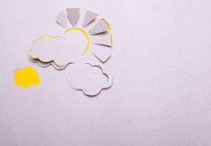 Sun  and cloud origami Royalty Free Stock Image