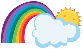 Sun cloud and rainbow Stock Image