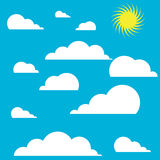 Sun and cloud sky. Background of sky with sun and clouds Stock Image