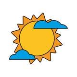 Sun cloud weather image Stock Photos