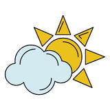 Sun cloud weather symbol Stock Photo