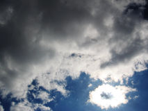 Sun and clouds. Storm clouds and sun Royalty Free Stock Images