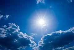 Sun in a clouds Stock Photography