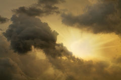 A sun among clouds Stock Images