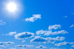 Sun and clouds Stock Photo