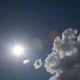 Sun and clouds. Shot with polarizing filter Stock Photos