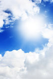 Sun and clouds Royalty Free Stock Photo