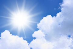 Sun and clouds Stock Images
