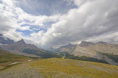 Sun and Clouds above the Alpine Tundra Stock Photos
