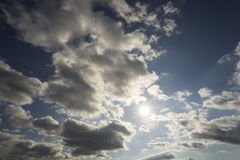 Sun in the clouds. Royalty Free Stock Photo