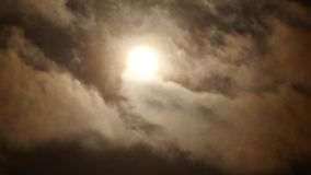 Sun with clouds Stock Image